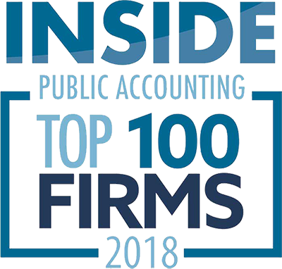 Logo for 2018 Inside Public Accounting Top 100 Firms