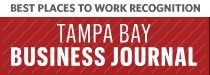 Logo for best places to work - Tampa Bay Business Journal