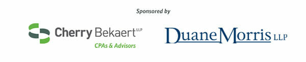 Cherry Bekaert LLP and Duane Morris LLP Sponsorship Logos