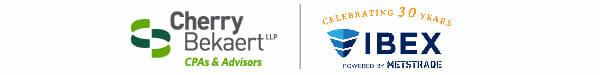 Cherry Bekaert & IBEX sponsorship logos